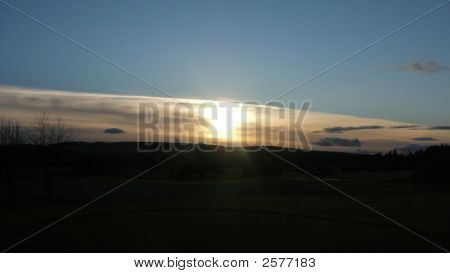 Sonnenuntergang am Deeside Golf course
