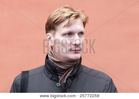 Portrait Of Serious Man