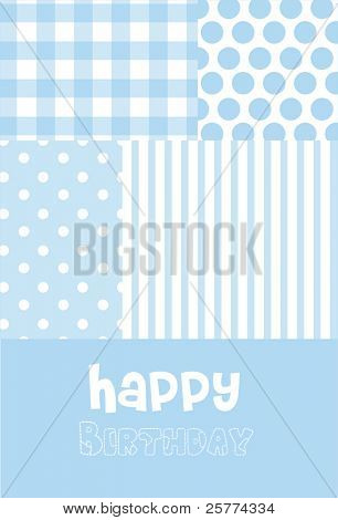 Baby boy Birth announcement or birthday greeting card.