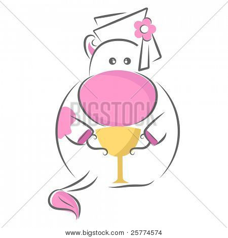 Moxy Patty the Cow graduated, Vector.