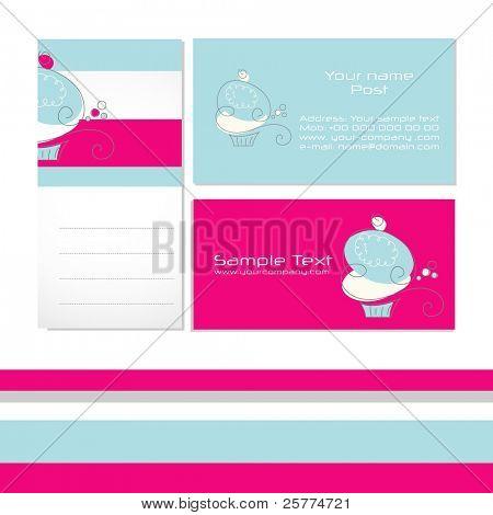 Tarjetas de visita modernas estilizadas, vector. EPS10 Compruebe la cartera para obtener más información.