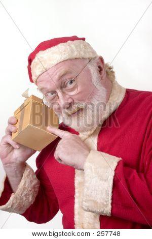 Santa With Box