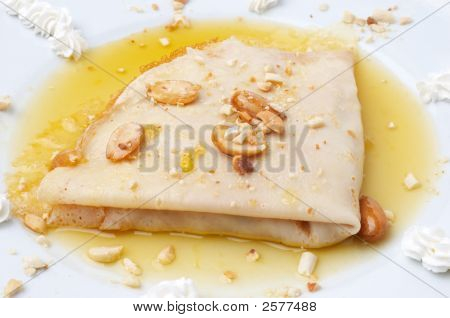 gefaltete Pfannkuchen