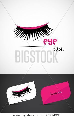 Stylized eye-lash, EPS10 vector.