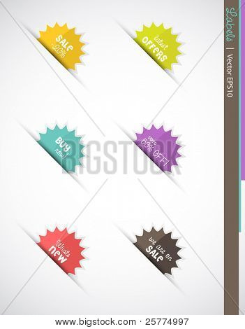 Web labels, Vector EPS10.
