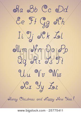 Pen alphabet letter