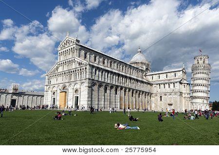 View Of Piazza Dei Miracoli Pisa