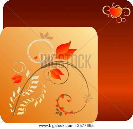 Diseño Floral de día de San Valentín