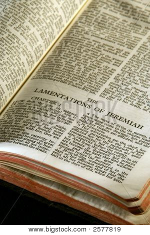 Bible Series Lamentations Of Jeremiah