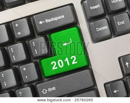 Computer Keyboard With 2012 Key