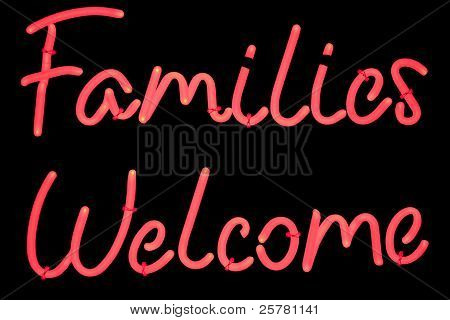 Famillies welcome sign