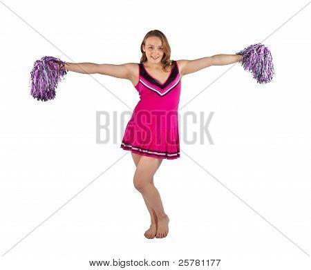 Young cheerleader