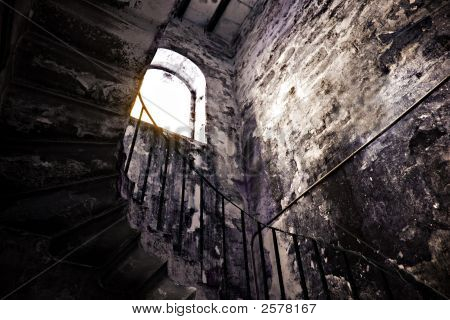 Abandoned Stairwell In Bermuda