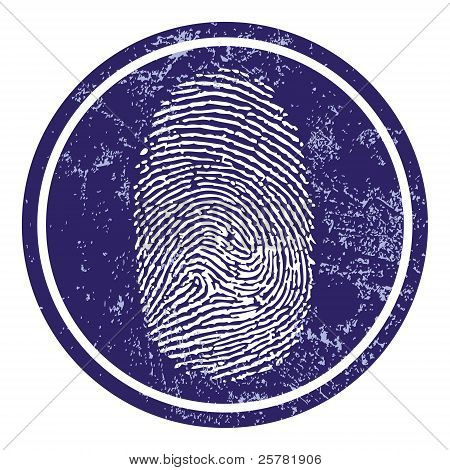 Fingerprint sign vector
