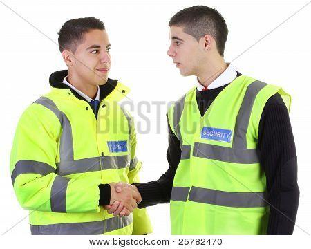 Security Guard Hand Shake
