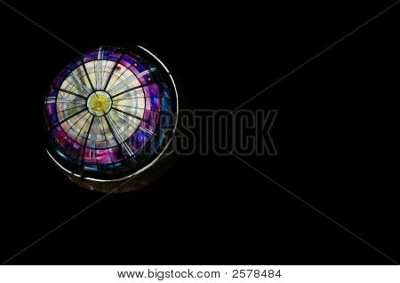 Stainglass Circle Abstract Background