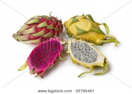 Yellow Pitaya And Costa Rica Pitaya