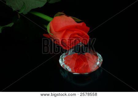 Valentine Rose And Diamond.