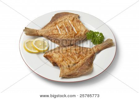 Dish With Fried Plaice