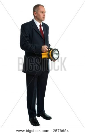 Businessman Searching