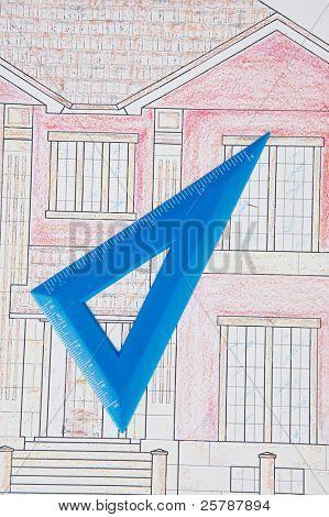 ein Foto von blau druckt Heim