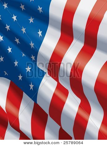 10x13 Vector American Flag background