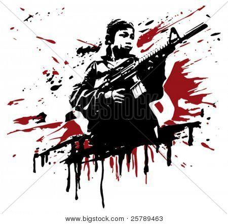 soldado asiático