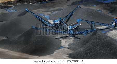 Coal mine background