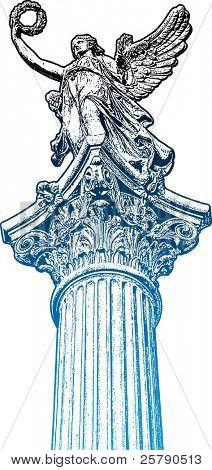 Golden Muse Statue, der Leiter der Kandelaber
