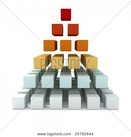 a multicolored pyramid, symbolizing hierarchy