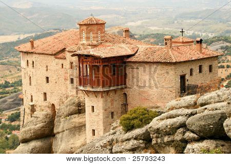 a monastery from the meteoras at greece