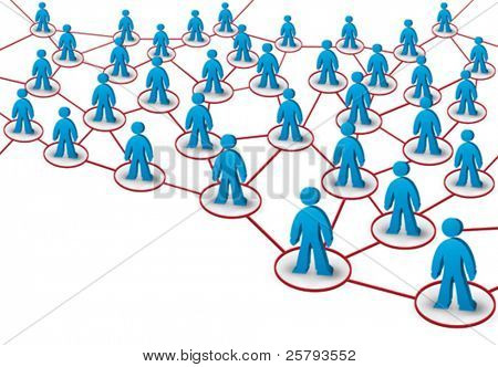 business network build from human shapes