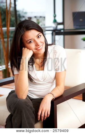 Casual Woman At Home