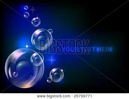 EPS10 vector realistic bubbles  background.