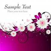 Pink Floral Abstract Background