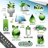 picture of solar battery  - Eco Design Elements and Icons - JPG