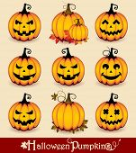 image of eye-wink  - Halloween Pumpkins - JPG