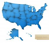 stock photo of united states map  - USA map  - JPG