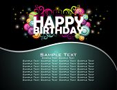 pic of happy birthday  - Happy Birthday abstract design background - JPG