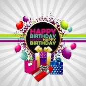 picture of happy birthday  - Happy Birthday colorful background - JPG