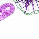 Masquarade party supplies with copyspace poster