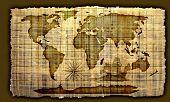 Постер, плакат: Изображение старой карте мира бумаги