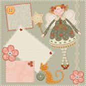 stock photo of baby doll  - Scrap card - JPG