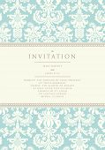 foto of wedding  - Ornate damask background - JPG