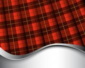 image of kilt  - Background with pleated Wallace tartan - JPG