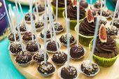 Chocolate, Cake Pops, Sprinkling, Sweets, Sweet Things; Sweet Stuff; Special Treats, Catering, Party poster