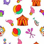 Concert In Circus Pattern. Cartoon Illustration Of Concert In Circus Pattern For Web poster