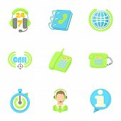 Consultation Icons Set. Cartoon Illustration Of 9 Consultation Icons For Web poster