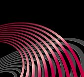 Abstract background with circles and curved lines - symbolic of acoustic sound waves, radio waves an