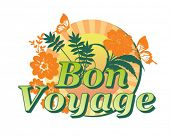 stock photo of bon voyage  - Vacation Summer graphic - JPG